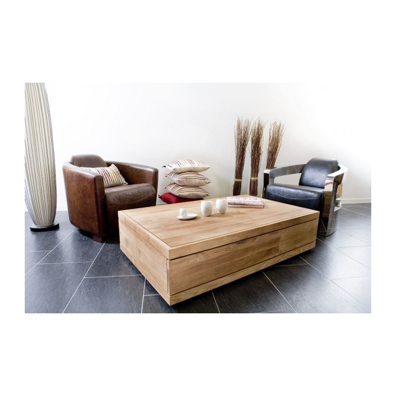 Ethnicraft table basse burger for Table basse ethnicraft