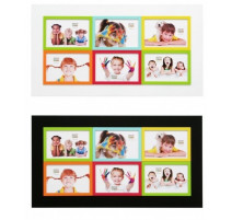 Cadre photo coloré 6 vues Deknudt