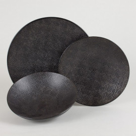 Assiette noire Vesuvio, Table Passion