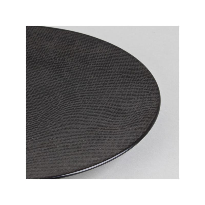 achat vente assiette noire vesuvio table passion assiette en gr s design. Black Bedroom Furniture Sets. Home Design Ideas