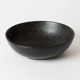 Saladier 24 cm noir Vesuvio, Table Passion