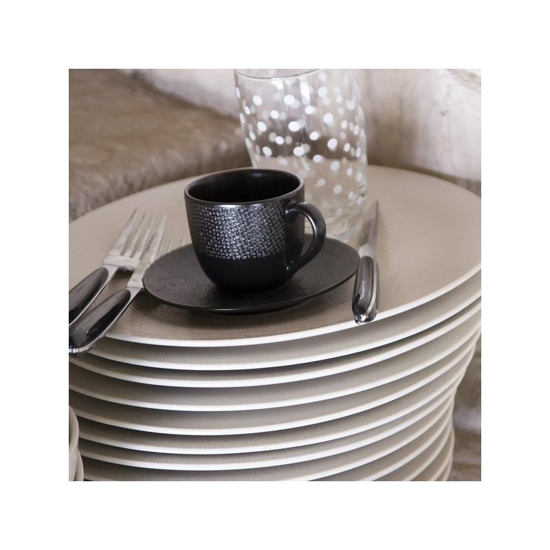 achat vente tasse caf avec soucoupe noire vesuvio. Black Bedroom Furniture Sets. Home Design Ideas