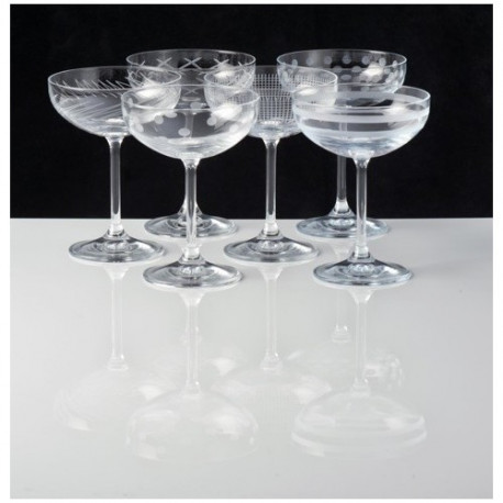 achat vente set de 6 coupes champagne oslo verres. Black Bedroom Furniture Sets. Home Design Ideas