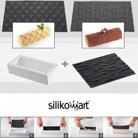 Moule à bûche silicone avec tapis, Silikomart