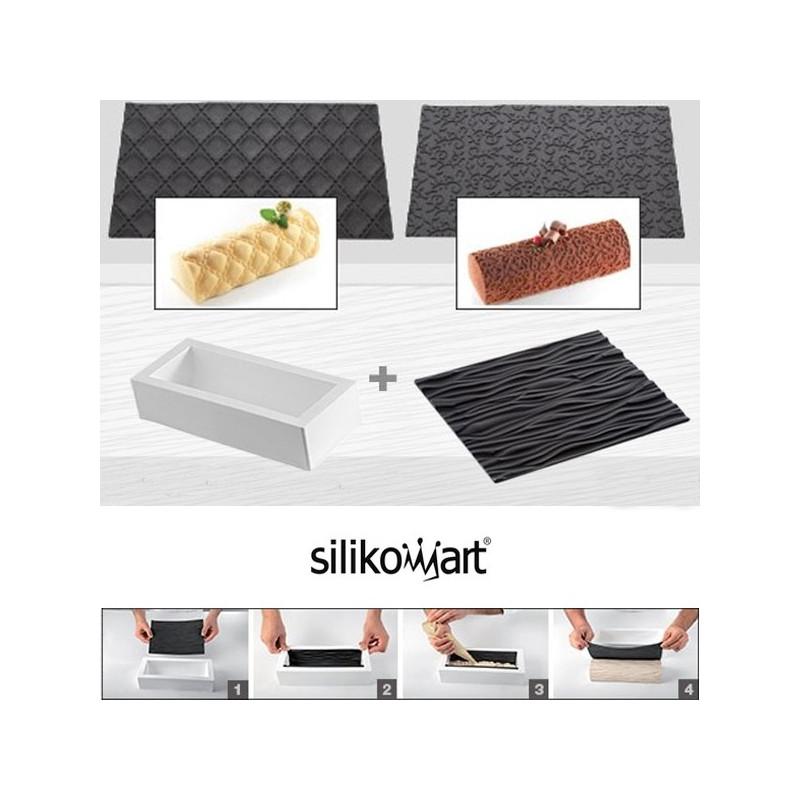 acheter moule b che silicone avec tapis textur silikomart. Black Bedroom Furniture Sets. Home Design Ideas