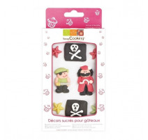Boîte 8 décosucres Pirate, Scrapcooking