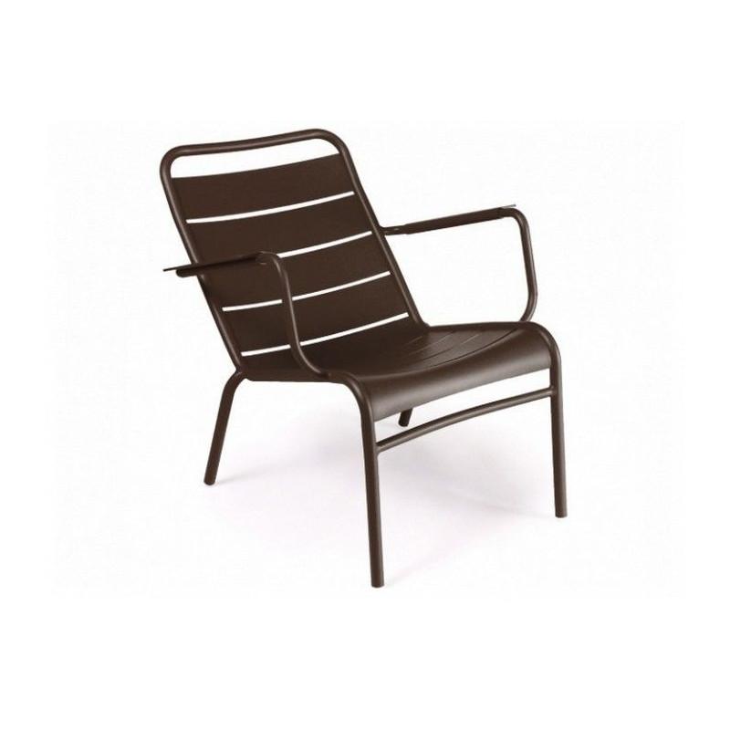 Vente fauteuil bas luxembourg fermob lounge meuble d - Fauteuil bas exterieur ...