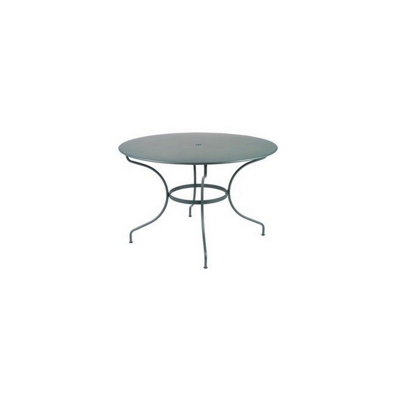 Vente table de jardin ronde acier 117 cm opera fermob for Vente table de jardin