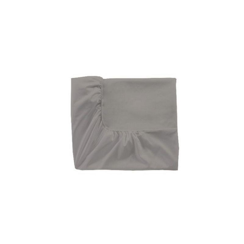 acheter drap housse percale gris perle essix drap housse coton grand drap housse. Black Bedroom Furniture Sets. Home Design Ideas