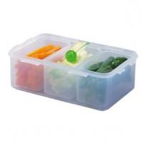 Boîte 1L avec 3 compartiments, Lock&Lock