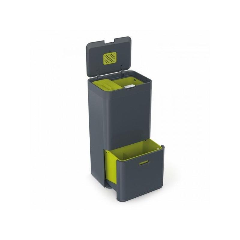 poubelle de tri s lectif totem joseph joseph intelligent waste totem poubelle triple bacs. Black Bedroom Furniture Sets. Home Design Ideas