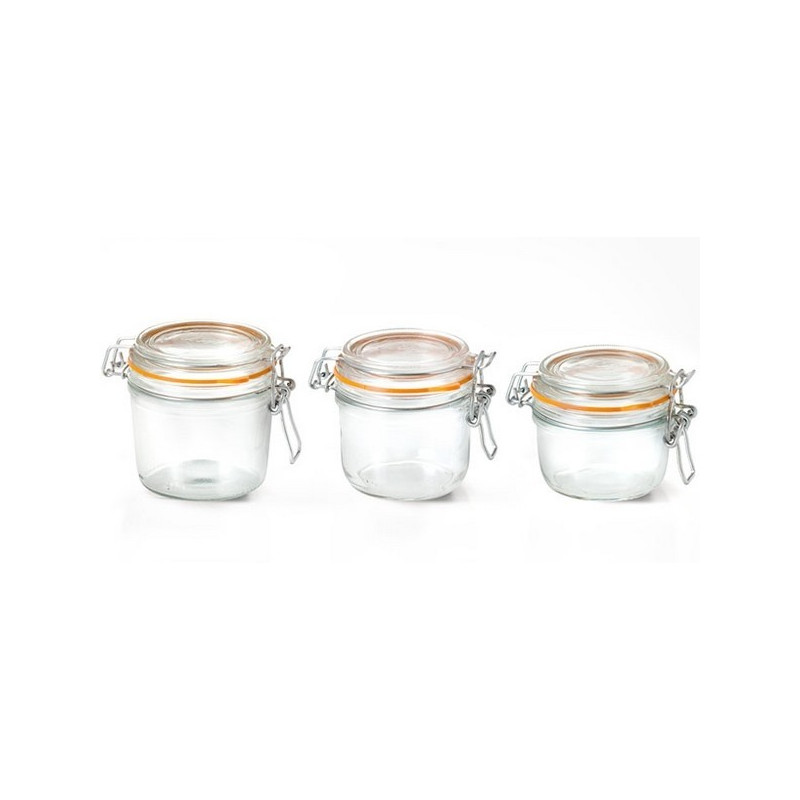 acheter lot de 6 terrines en verre de 125g pour conserves. Black Bedroom Furniture Sets. Home Design Ideas