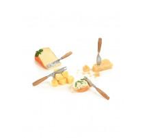 Set de 4 couteaux à fromage en chêne, Boska