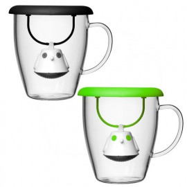 Infuseur à thé & sa tasse en verre, QDO