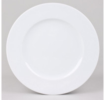 Assiette plate blanche Chamonix, Table Passion