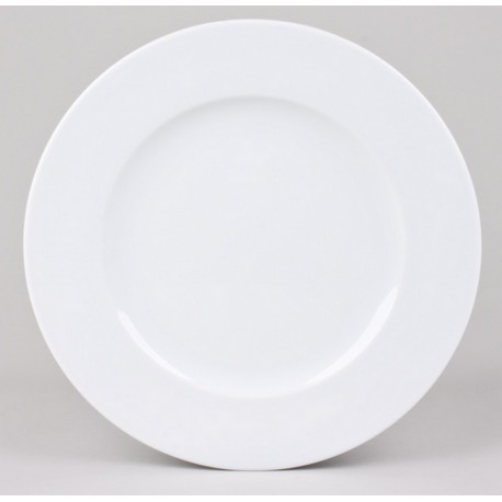 Assiette plate blanche Chamonix, Table Passion