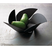 Porte fruits noir Twist Again, Alessi