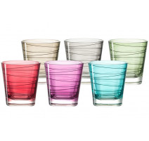 Coffret 6 verres whisky colorés Vario, Léonardo