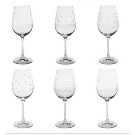 Coffret 6 verres à vin Graphik, Table passion