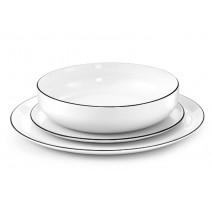 Assiette plate Yaka Noir, Médart de Noblat