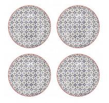 Coffret de 4 assiettes plates Ushuaia, Table Passion