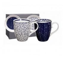 "Coffret 2 mugs P/L "" Le Bleu de Nimes"", Tokyo Design"