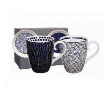 "Coffret 2 mugs S/W "" Le Bleu de Nimes"",Tokyo Design"