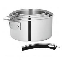 Série de 3 casseroles Newcook Clip Expert, Guy Degrenne