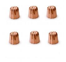 6 Moules à canelés cuivre 35 mm, Mali's