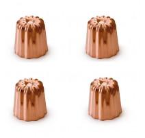 4 Moules à cannelés cuivre 45 mm, Mali's