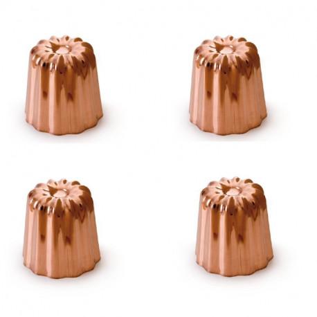 4 Moules à canelés cuivre 45 mm, Mali's