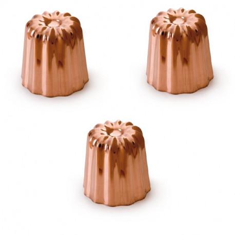 3 Moules à canelés cuivre 55 mm, Mali's
