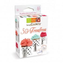 Kit douilles 3D Froufrou, ScrapCooking