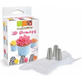 Kit douilles 3D Flower, ScrapCooking