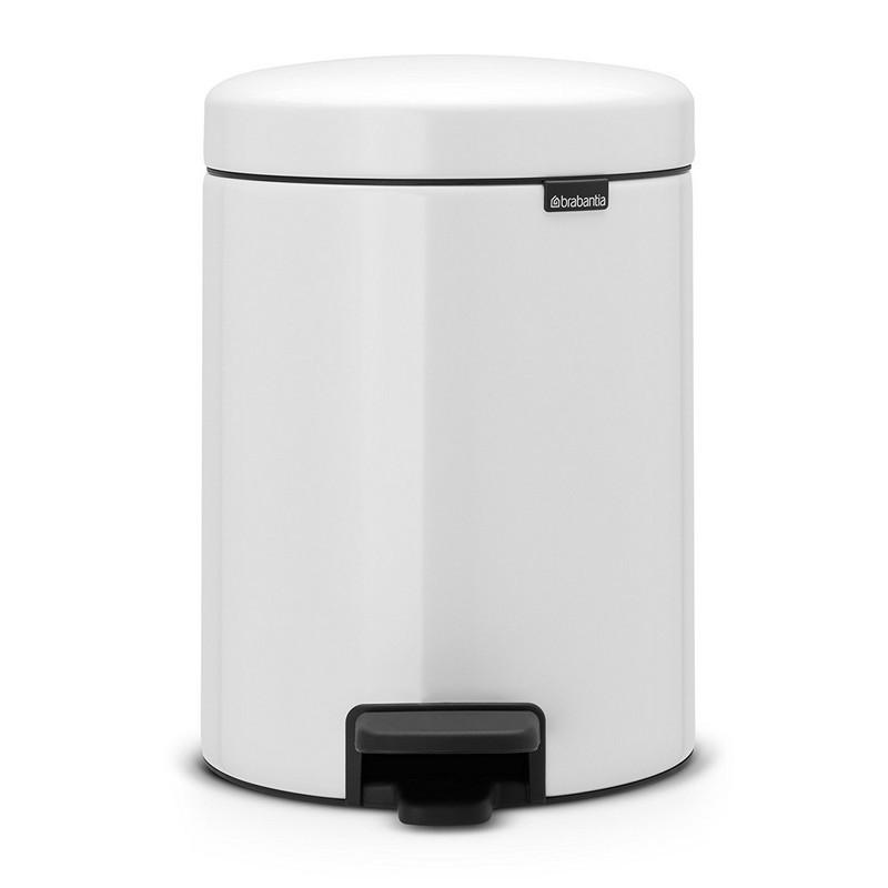 acheter poubelle p dale newicon 5l blanche brabantia. Black Bedroom Furniture Sets. Home Design Ideas