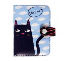 Porte-cartes Black cat, Derrière la porte