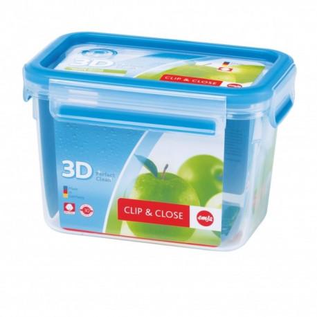 Boîte alimentaire rectangulaire haute 1,1 L Clip & Close