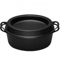Cocotte ovale Doufeu 35 cm noire, Le Creuset