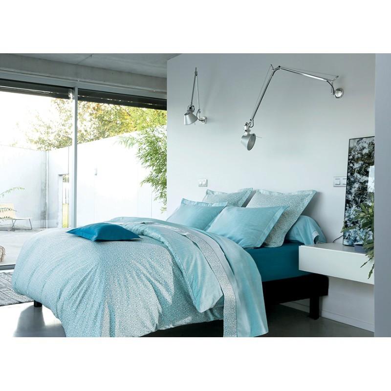 achat vente housse de couette cantate c ladon blanc des. Black Bedroom Furniture Sets. Home Design Ideas