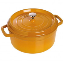 Cocotte ronde 24cm moutarde, Staub