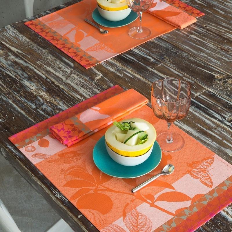 Achat vente set de table jardin de paradis abricot le for Le set de table