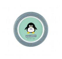 Assiette plate Pingouin garçon, Derrière La Porte