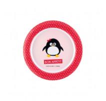 Assiette plate Pingouin fille, Derrière La Porte