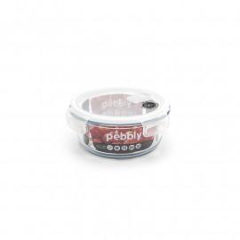 Boîte ronde en verre 950 ml, Pebbly