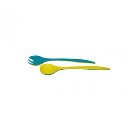 Couverts à salade bicolore bleu/jaune, Zak Designs