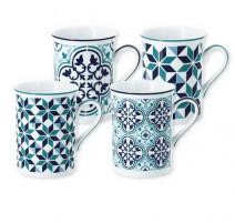 Coffret 4 mugs Tiago, Bruno Evrard