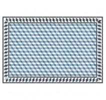 Tapis 3D bleu, Mosaiko
