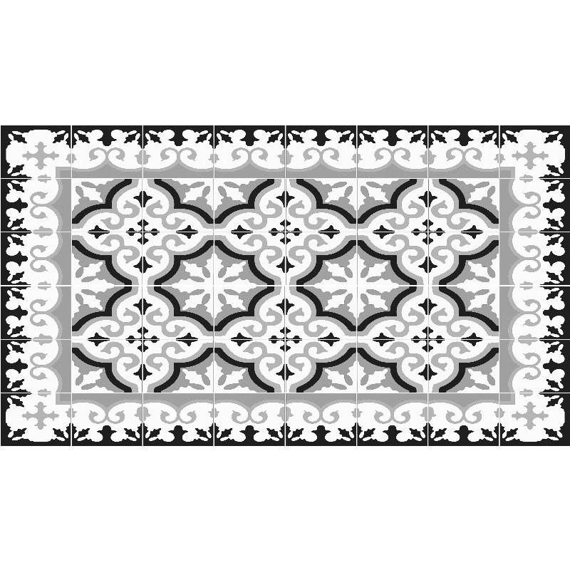 Achat Vente Tapis Flocon Gris Mosaiko - Carrelage cuisine et tapis silicone macarons