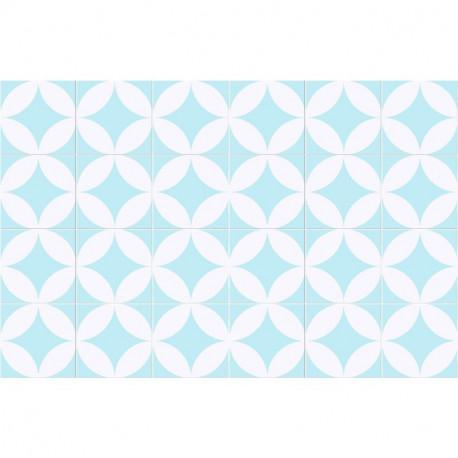 Tapis Sixties Bleu, Mosaiko