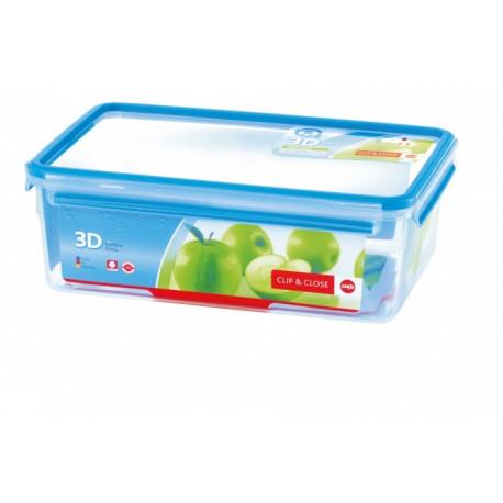 Boîte alimentaire rectangulaire 5,5l Clip & Close